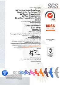 BRC Certificate Awarded to MJF Holdings LTD